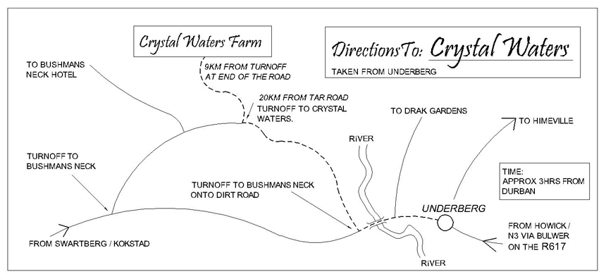 Crystal Waters Trout Fishing Underberg. Directions to the farm.